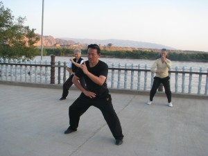 QI Gong Ee Tong, Yellow River Jingtai Gansu China, 2012.08.29